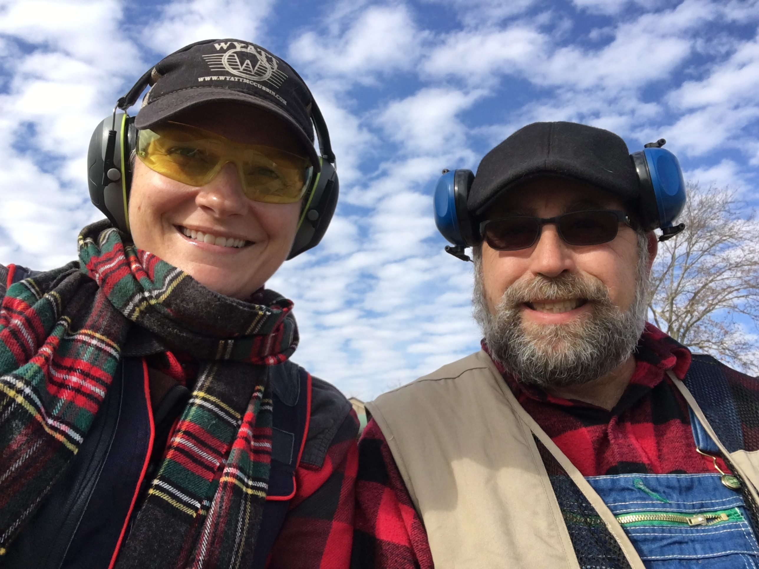 Amy and David Cox Preparing for a Skeet Shoot