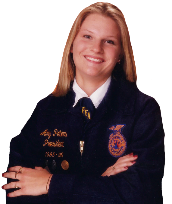Amy Cox, then Peters, was the President of the Preble Shawnee High School Future Farmers of America in 1993