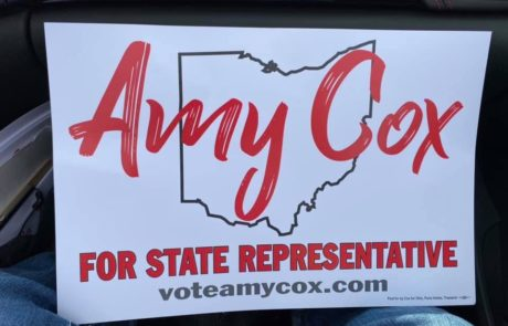 Amy Cox for State Representative Sign at New Paris, Ohio Apple Festival