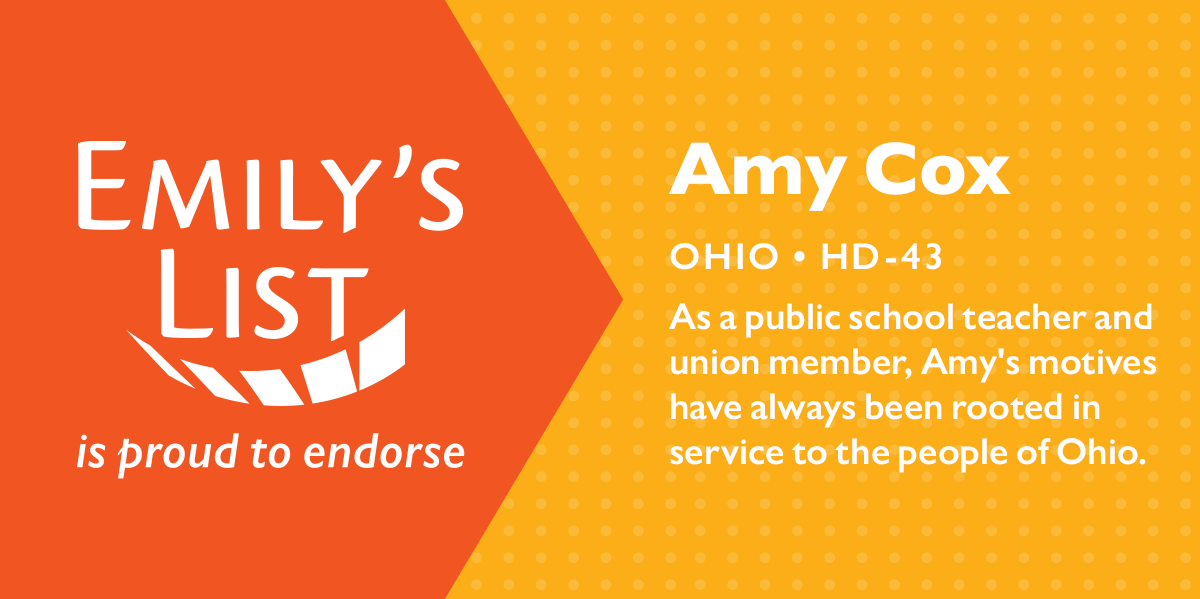 Emily's List Endorses Amy Cox For Ohio State Representative
